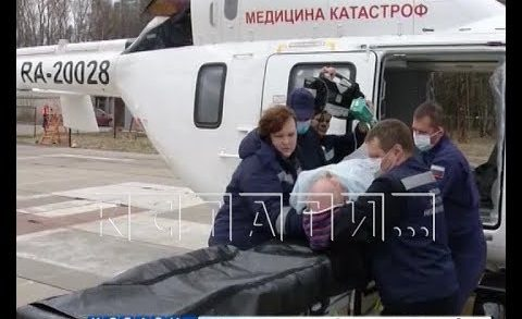 В Нижегородской области усиленно работает санитарная авиация