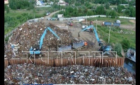 Перевалочный пункт отходов на берегу Оки засыпал местных жителей ржавым пеплом