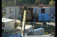 Кран рухнул на стройке в Ленинском районе