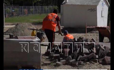 Производственный вандализм выявлен при благоустройстве сквера в Автозаводском районе