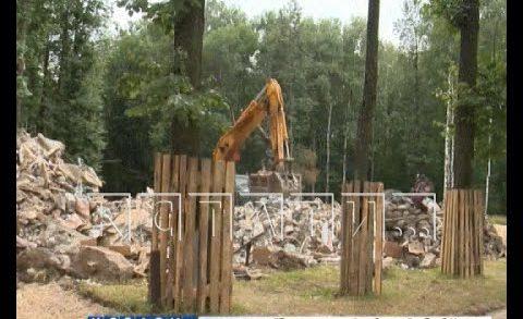 В парке «Швейцария» закончен демонтаж павильонов кафе