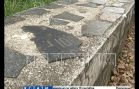 В Сормовском парке парапет выполнен из разбитых памятников с кладбища