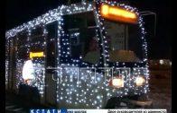 Новогодние трамваи вышли на улицы Нижнего Новгорода