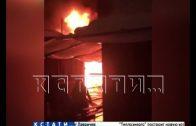 Ночной пожар на Канавинском рынке уничтожил промтоварные ряды