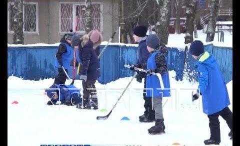 Легенды хоккея проводят мастер-класс в обычном автозаводском дворе