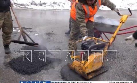 Перед большой дорожной ремонтной кампанией начался ямочный ремонт
