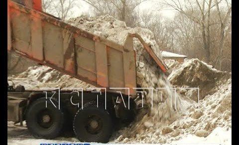 Временное место складирования снега превратили в нелегальную свалку