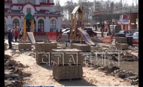 Благоустройство общественных пространств началось в Нижнем Новгороде