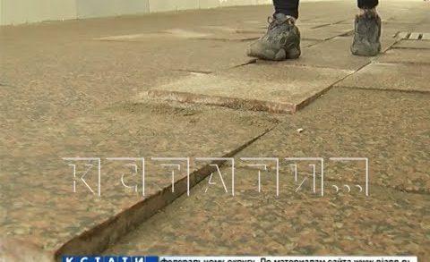 Подземный переход на площади Лядова разваливается спустя 4 месяца после реконструкции