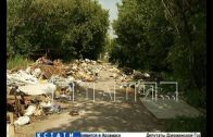 Самая большая в городе куча мусора появилась на улице Пахомова
