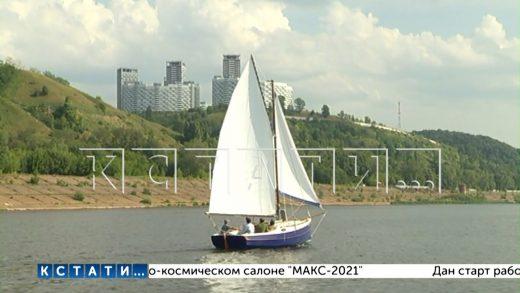 Уникальная яхта спущена на воду в Нижнем Новгороде