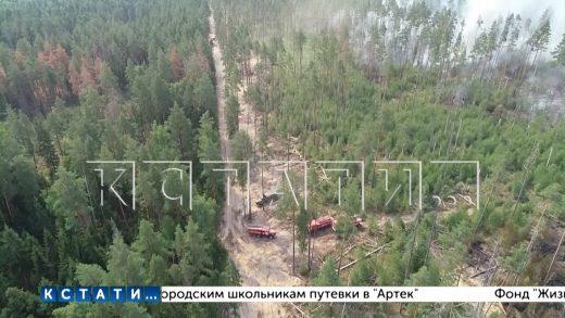 На части территории Навашинского района объявлен режим ЧС из-за мордовских пожаров