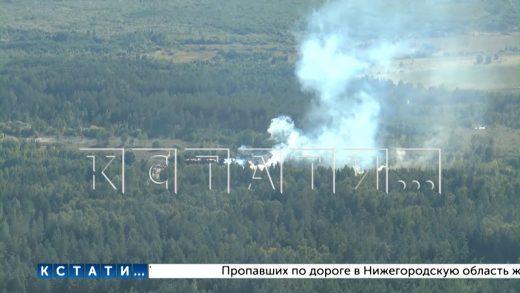 Пожары на юге Нижегородской области остановлены