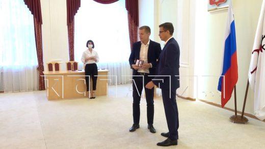 Юрий Шалабаев сегодня вручал награды нижегородским спортсменам и тренерам